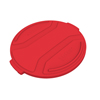Toter 55 Gal. Round Trash Can Lid - Red TOTRND55-L0570