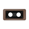 Toter Slimline Rectangular Trash Can Lid with Can Cutout - Brown TOTSL000-20270