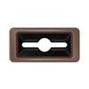 Toter Slimline Rectangular Trash Can Lid with Can and Document Cutout - Brown TOTSL000-30270