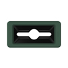 Toter Slimline Rectangular Trash Can Lid with Can and Document Cutout - Forest Green TOTSL000-30960