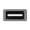Toter Slimline Rectangular Trash Can Lid with Document Slot - Dark Cool Gray TOTSL000-40125