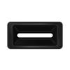 Toter Slimline Rectangular Trash Can Lid with Document Slot - Black TOTSL000-40200