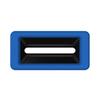 Toter Slimline Rectangular Trash Can Lid with Document Slot - Blue TOTSL000-40705