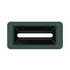 Toter Slimline Rectangular Trash Can Lid with Document Slot - Forest Green TOTSL000-40960
