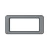 Toter Slimline Rectangular Trash Can Lid with Open Top - Dark Cool Gray TOTSL000-60125