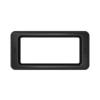 Toter Slimline Rectangular Trash Can Lid with Open Top - Black TOTSL000-60200