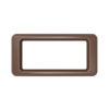 Toter Slimline Rectangular Trash Can Lid with Open Top - Brown TOTSL000-60270