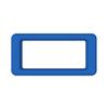 Toter Slimline Rectangular Trash Can Lid with Open Top - Blue TOTSL000-60705