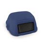 Toter Slimline 35 Gal. Dome Square Top Swinging Trash Can Lid - Blue TOT STL35-00BLU