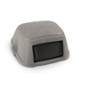 Toter Slimline 35 Gal. Dome Square Top Swinging Trash Can Lid - Graystone TOT STL35-00GST