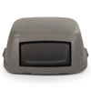 Toter Slimline 50 Gal. Square Trash Can Dome Top Lid - Graystone TOT STL50-00GST