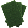 cleaning chemicals, brushes, hand wipers, sponges, squeegees: Treleoni - 96A Green Medium Duty Scouring Pad