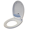 iTouchless Touch-Free Sensor Control Automatic Toilet Seat - Round ITO TS1RWACEA