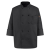 workwear chef coats: Chef Designs - Men's Spun Poly Chef Coat