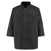 workwear chef coats: Chef Designs - Men's Spun Poly Chef Coat