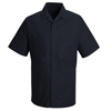 workwear shirt jackets: Red Kap - Men's Convertible Collar Shirt Jacket