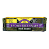 Crackers Chips Pretzels Crackers: Edward & Sons - Black Sesame Brown Rice Snaps