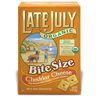 Late July Cheddar Cheese Bite Size Crackers BFG 37888