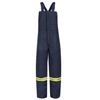Bulwark Mens EXCEL FR® ComforTouch® Deluxe Insulated Bib Overall with Reflective Trim UNF BLCTNV-LN-L