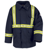 flame resistant: Bulwark - Unisex EXCEL FR® ComforTouch® Deluxe Parka With CSA Reflective Trim