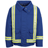 flame resistant: Bulwark - Men's Nomex® IIIA Lined Bomber Jacket with Reflective Trim