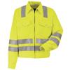 workwear jackets: Red Kap - Men's Hi-Vis Ike Jacket - Class 3 Level 2