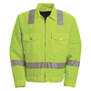 mens jackets: Red Kap - Men's Hi-Vis Ike Jacket - Class 2 Level 2