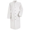 Red Kap Mens Snap-Front Spun Polyester Butcher Coat UNF KS58WH-RG-XL