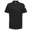 Bulwark Mens iQ Short Sleeve Polo Shirt UNF QT10BK-SS-3XL
