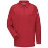 Bulwark Mens iQ Long Sleeve Polo Shirt UNF QT12RD-LN-3XL