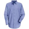 Red Kap Mens Wrinkle-Resistant Cotton Work Shirt UNF SC30LB-XLN-XL