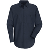 workwear shirts long sleeve: Red Kap - Men's Wrinkle-Resistant Cotton Work Shirt