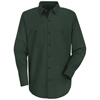 Red Kap Mens Wrinkle-Resistant Cotton Work Shirt UNF SC30SG-LN-XXL