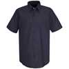 Red Kap Mens Wrinkle-Resistant Cotton Work Shirt UNF SC40DN-SS-S