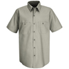 Red Kap Mens Wrinkle-Resistant Cotton Work Shirt UNF SC40GG-SS-L