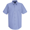 Red Kap Mens Wrinkle-Resistant Cotton Work Shirt UNF SC40LB-SS-3XL