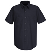 Red Kap Mens Wrinkle-Resistant Cotton Work Shirt UNF SC40NV-SS-XL