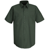 Red Kap Mens Wrinkle-Resistant Cotton Work Shirt UNF SC40SG-SS-L