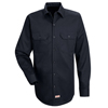 Red Kap Mens Deluxe Heavyweight Cotton Shirt UNF SC70DN-LN-L
