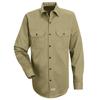 workwear shirts long sleeve: Red Kap - Men's Deluxe Heavyweight Cotton Shirt