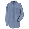 Wrangler Workwear Mens Wrangler Denim Shirt UNF SD10MS-RG-3XL
