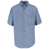 mens shirts: Wrangler Workwear - Men's Wrangler Denim Shirt