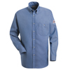flame resistant: Bulwark - Men's EXCEL FR® Denim Dress Shirt - 7 oz.