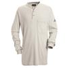 Bulwark Mens EXCEL FR® Tagless Henley Shirt UNF SEL2GY-LN-L