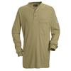 Bulwark Mens EXCEL FR® Tagless Henley Shirt UNF SEL2KH-LN-L