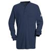 Bulwark Mens EXCEL FR® Tagless Henley Shirt UNF SEL2NV-LN-XXL