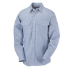 flame resistant: Bulwark - Men's Striped Uniform Shirt - EXCEL FR® - 7 oz.