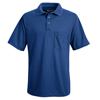 workwear mens shirts: Red Kap - Men's Performance Knit® Polyester Solid Shirt