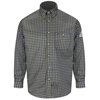 flame resistant: Bulwark - Men's Plaid EXCEL FR® ComforTouch® Dress Shirt - 6.5 oz.