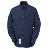 Bulwark Mens Uniform EXCEL FR® ComforTouch® Dress Shirt - 7 oz. UNF SLU2NV-RG-S